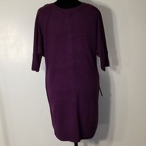 NY&CO Button Accent Sweater Dress